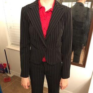 #2 Black striped suits  Jacket S/P/CH Pants 3